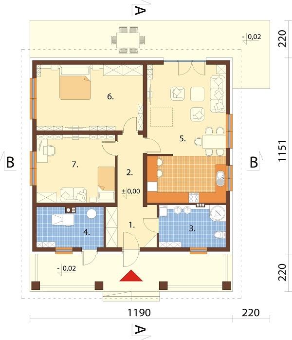 Projekt domu L-6685 - rzut