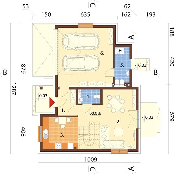 Projekt domu L-6689 - rzut