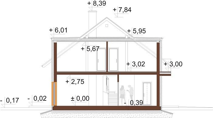 Projekt domu L-6686 - przekrój