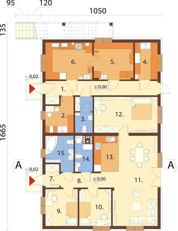 Projekt domu L-6646 - rzut