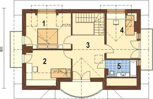 Projekt domu DM-6256 - rzut