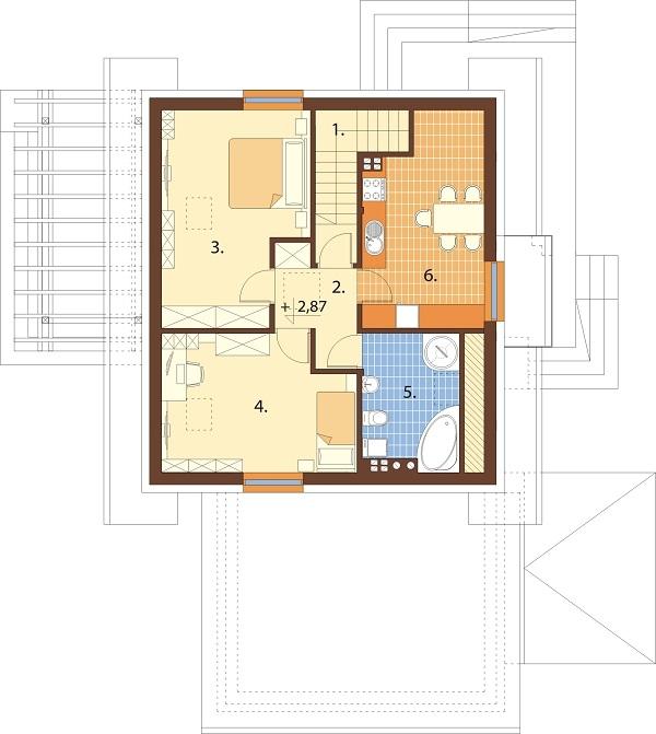 Projekt domu DM-6697 - rzut