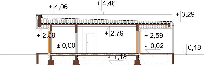 Projekt domu DM-6701 - przekrój