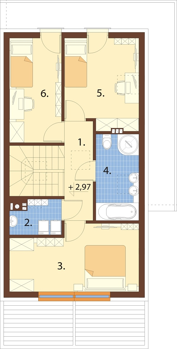 Projekt domu DM-6707 - rzut