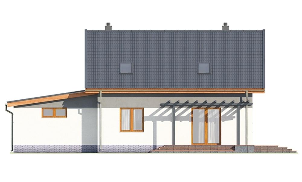 Projekt domu L-6697 - elewacja