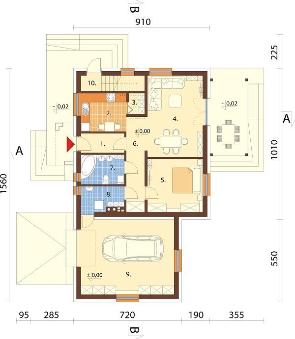 Projekt domu L-6697 - rzut