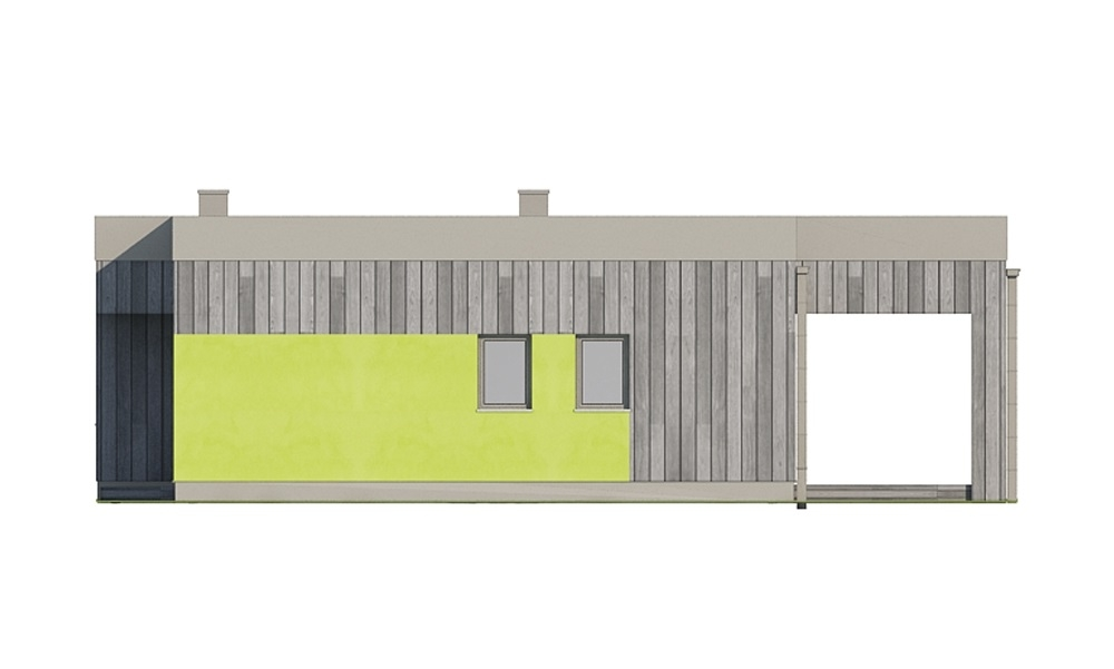 Projekt domu L-6701 - elewacja