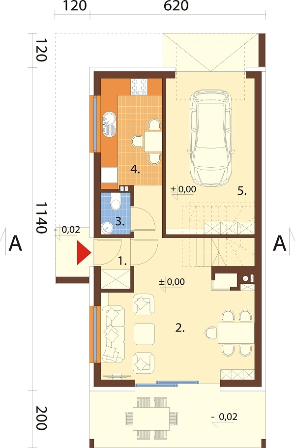 Projekt domu L-6707 - rzut