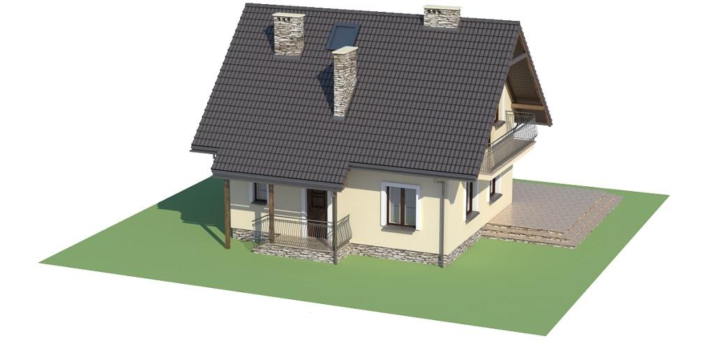 Projekt domu L-6190 D - model