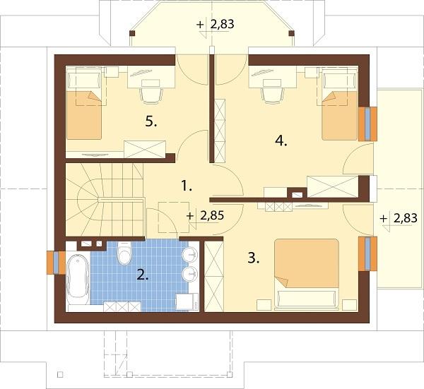 Projekt domu L-6190 D - rzut