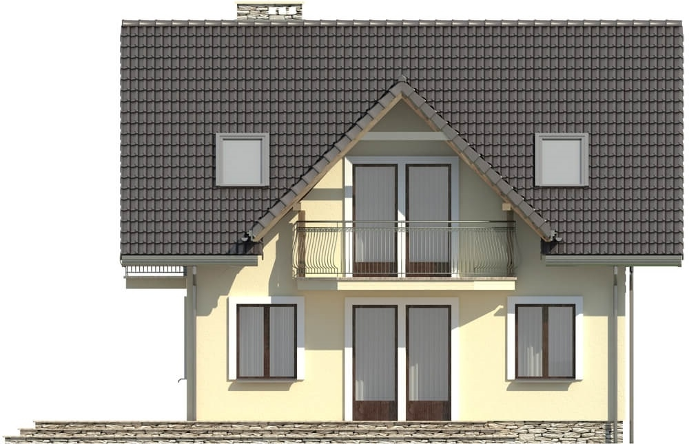 Projekt domu L-6190 D - elewacja