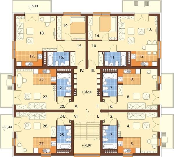 Projekt domu DM-6710 - rzut