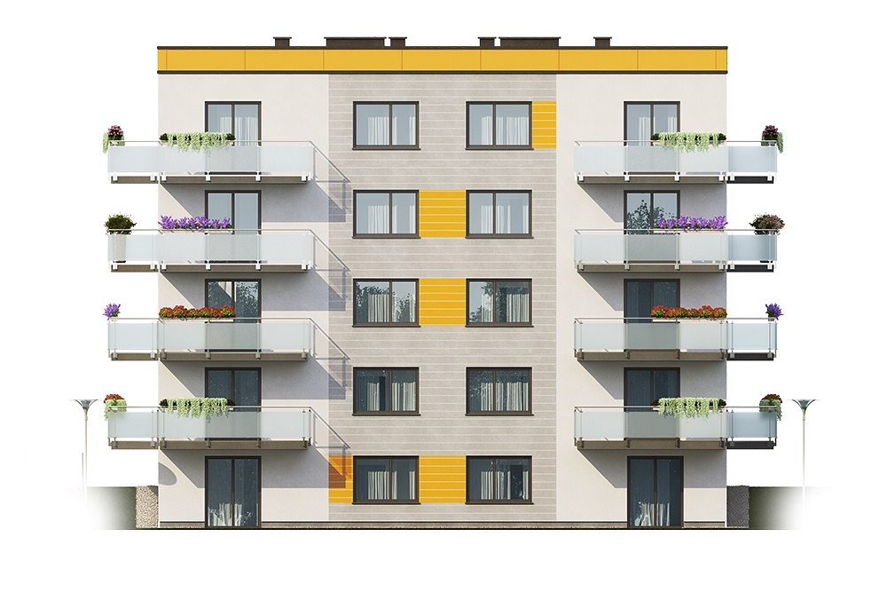 Projekt domu DM-6710 - elewacja