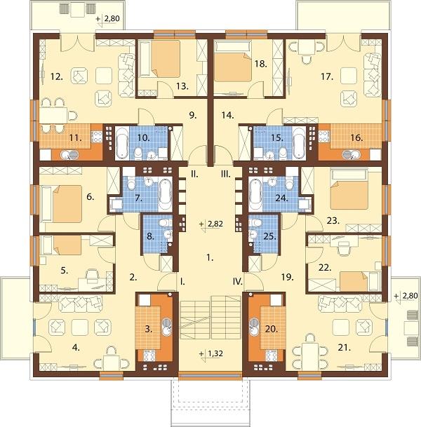 Projekt domu L-6710 - rzut