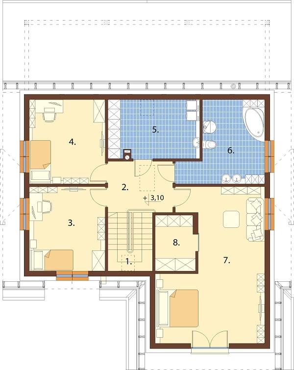 Projekt domu DM-6687 - rzut