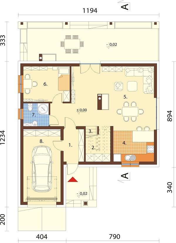 Projekt domu L-6687 - rzut