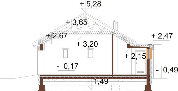 Projekt domu DM-6703 - przekrój