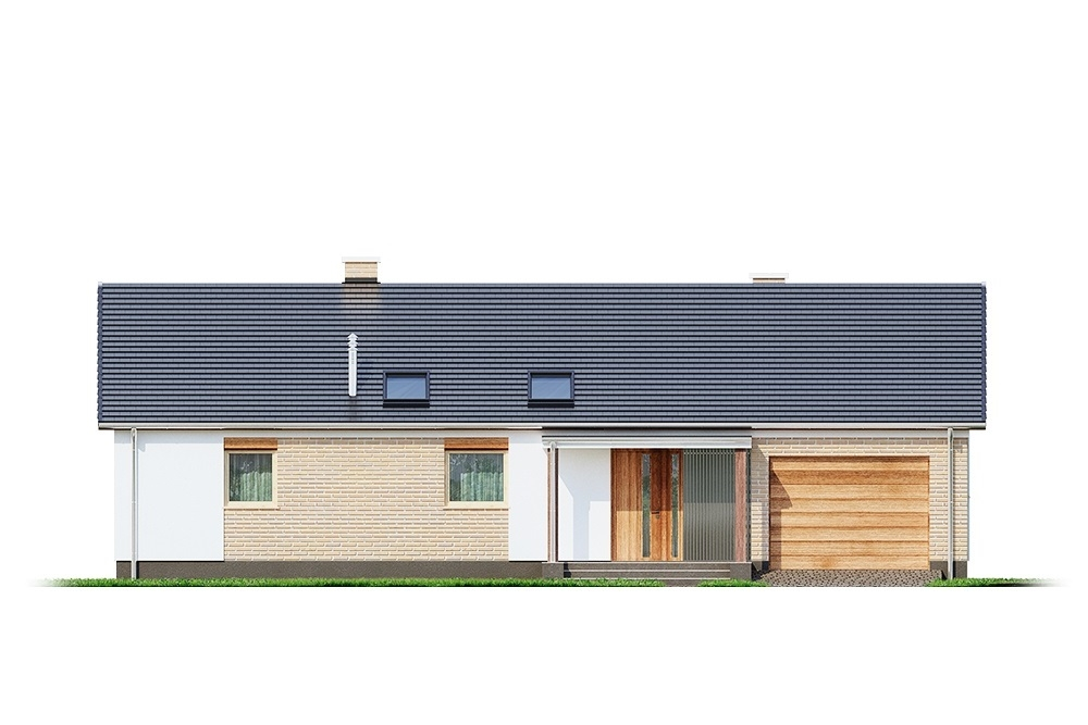 Projekt domu L-6703 - elewacja