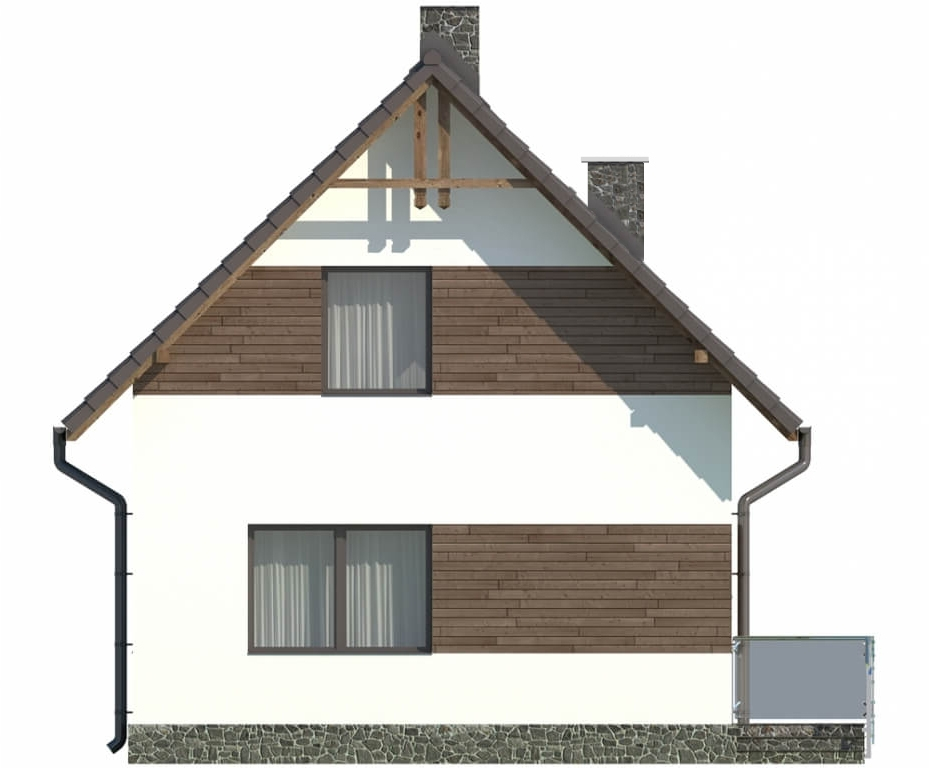 Projekt domu L-5582 C - elewacja