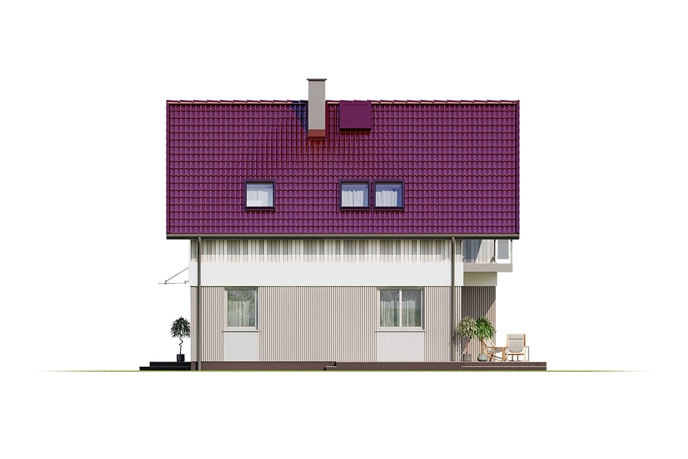 Projekt domu DM-6704 - elewacja