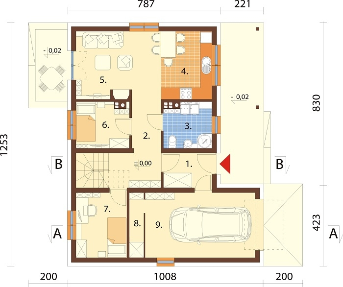 Projekt domu DM-6693 - rzut
