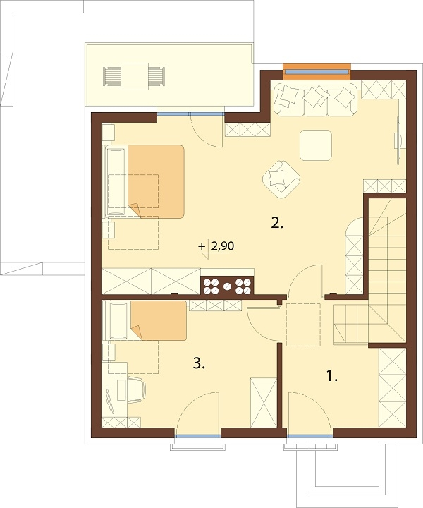 Projekt domu L-6704 - rzut