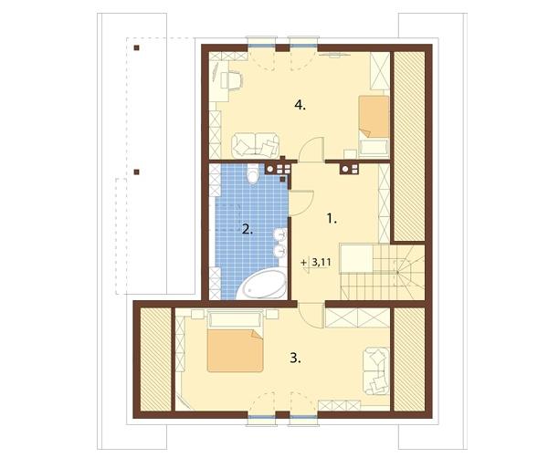 Projekt domu L-6693 - rzut