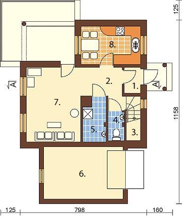 Projekt domu DM-6259 - rzut
