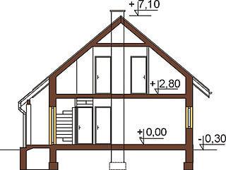 Projekt domu DM-6259 - przekrój