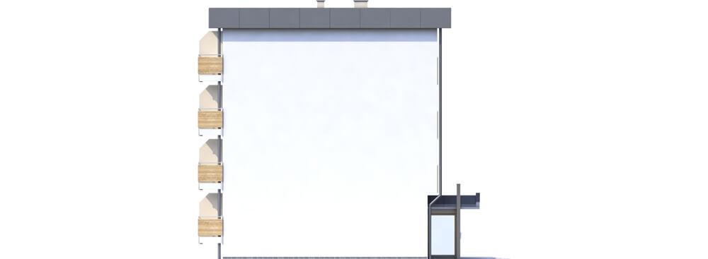 Projekt domu DM-6590C - elewacja
