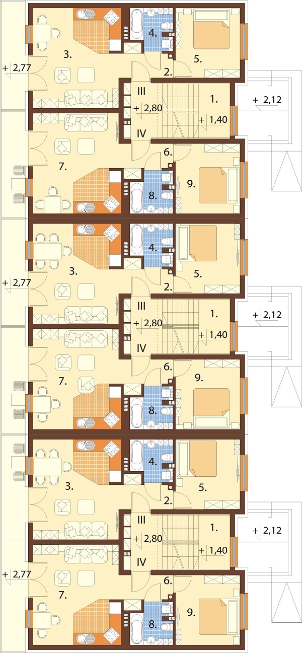 Projekt domu DM-6590C - rzut