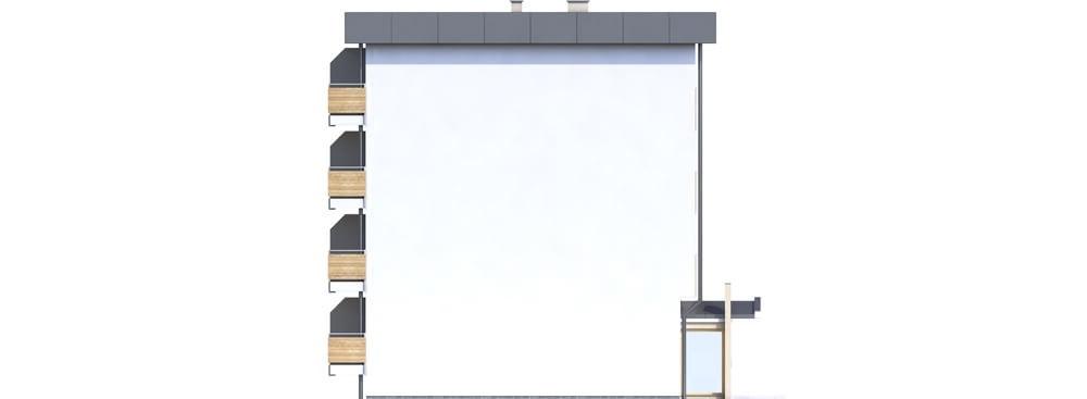Projekt domu L-6590C - elewacja