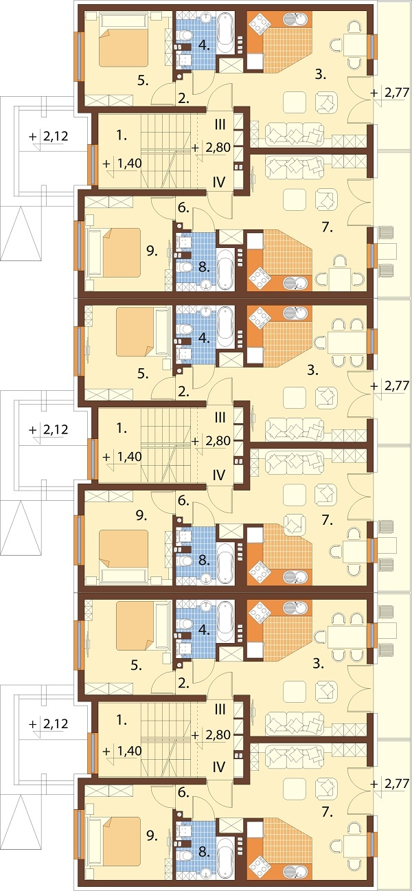 Projekt domu L-6590C - rzut