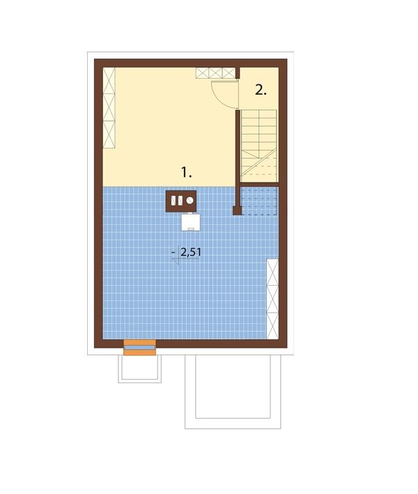 Projekt domu DM-6652 - rzut