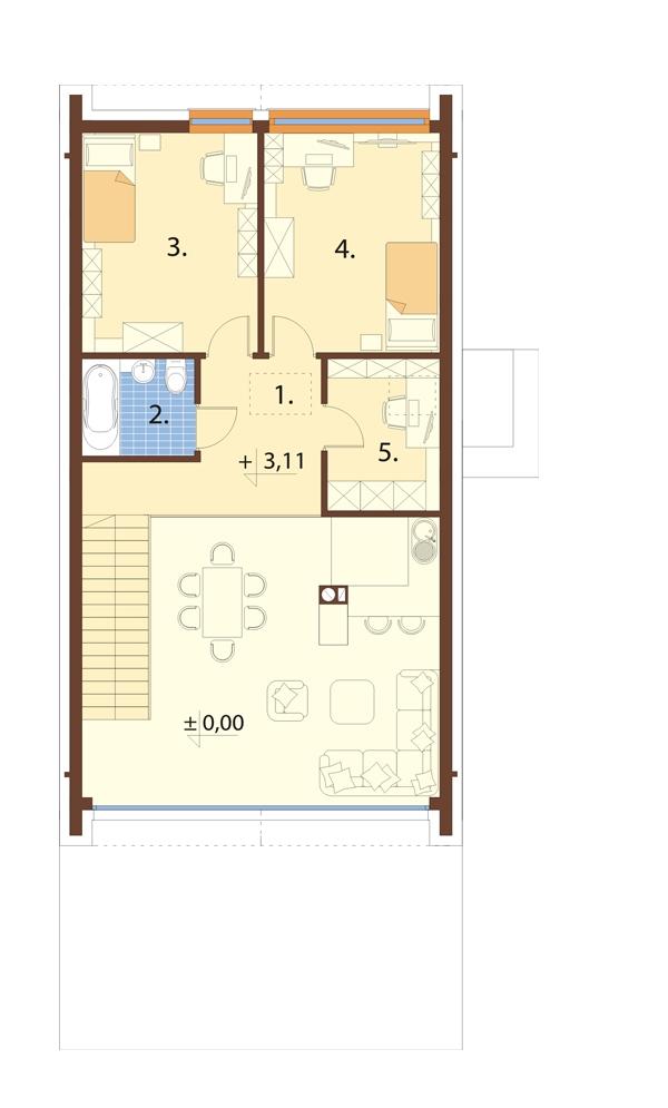 Projekt domu DM-6719 - rzut