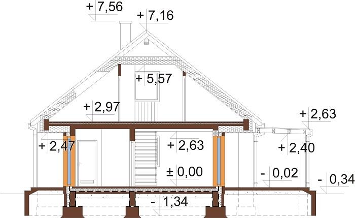 Projekt domu DM-6706 - przekrój