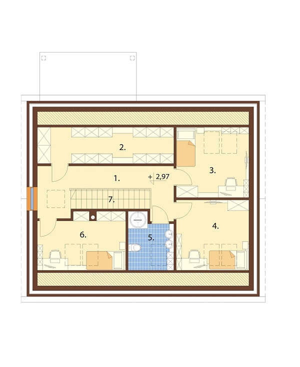 Projekt domu DM-6706 - rzut