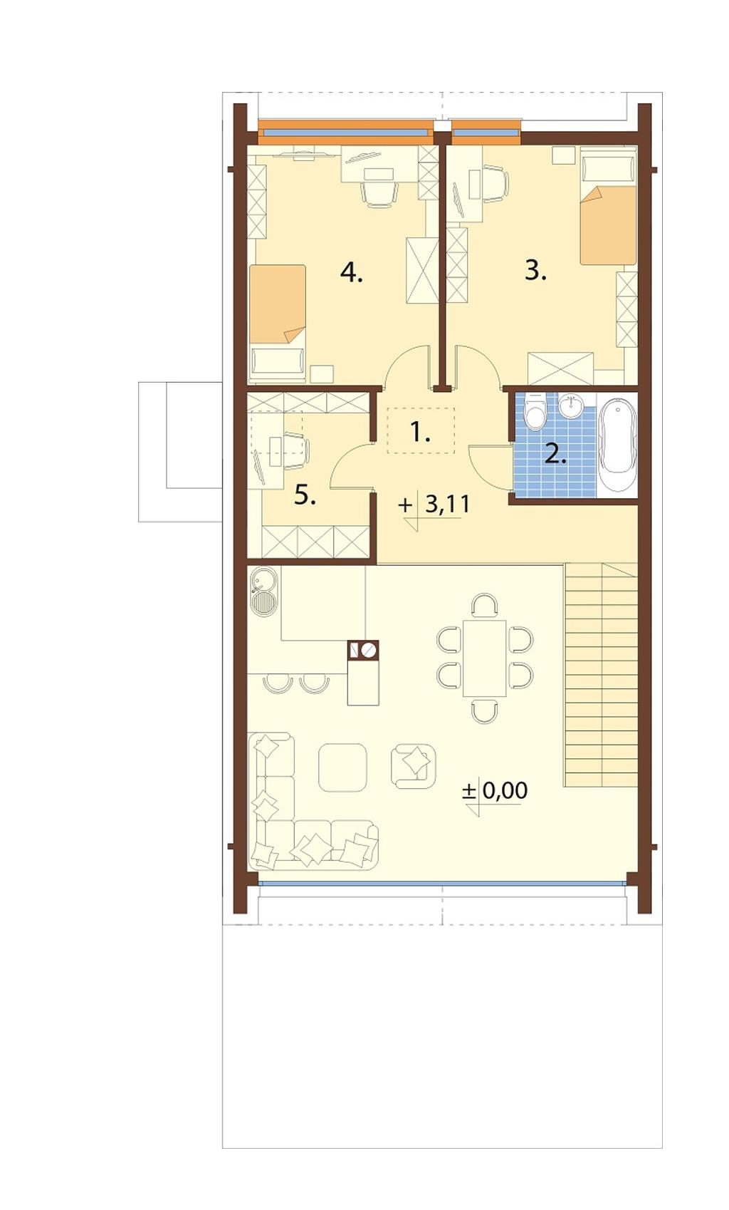 Projekt domu L-6719 - rzut