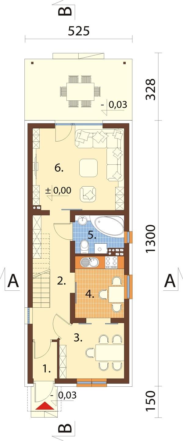 Projekt domu DM-6715 - rzut