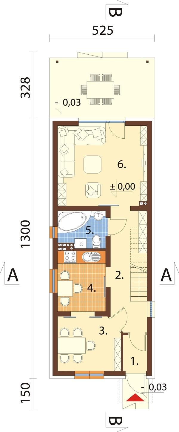 Projekt domu L-6715 - rzut