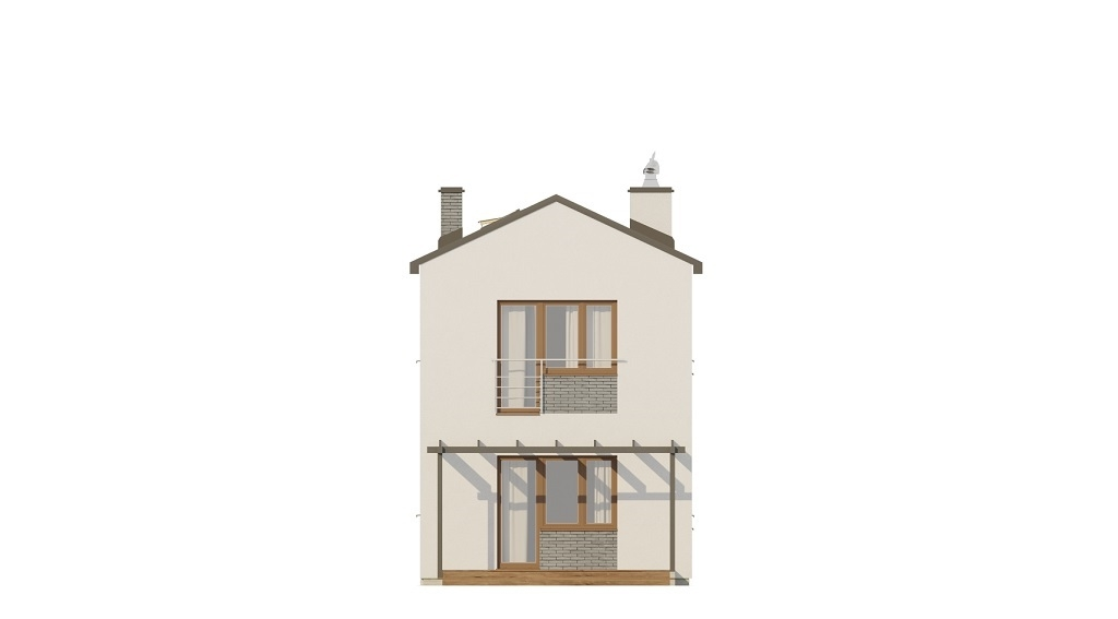 Projekt domu L-6715 - elewacja