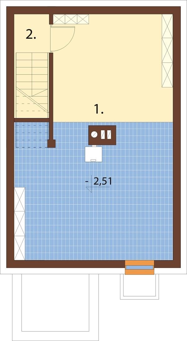 Projekt domu L-6652 - rzut