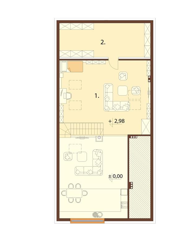 Projekt domu DM-6705 - rzut