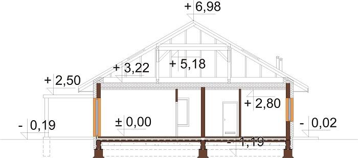 Projekt domu DM-6726 - przekrój
