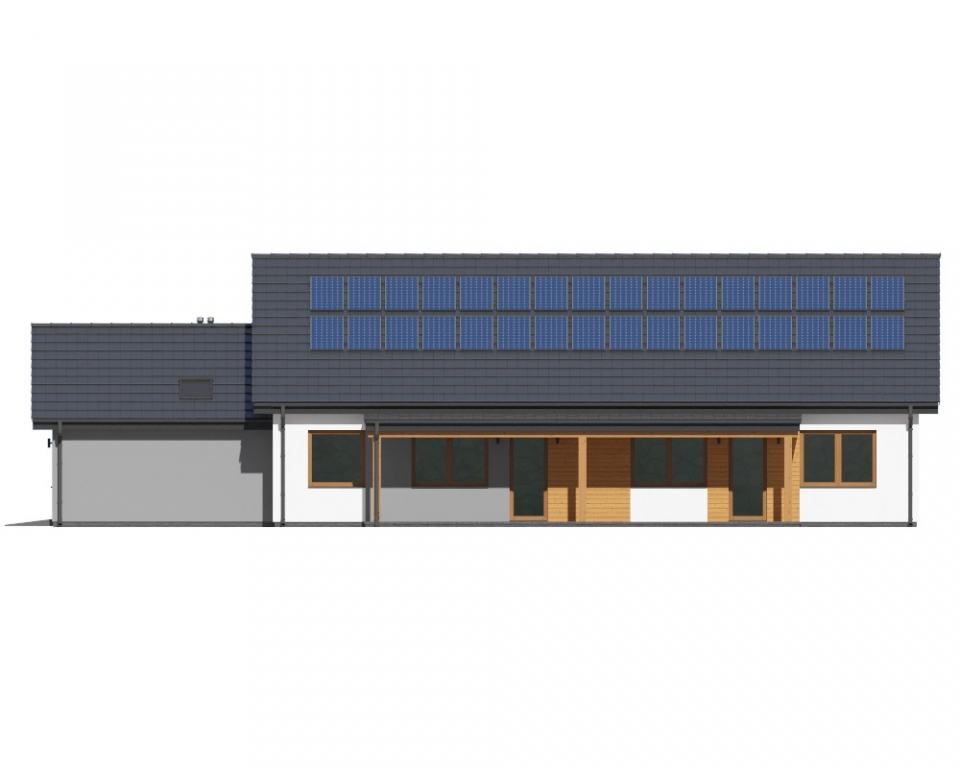 Projekt domu DM-6730 - elewacja