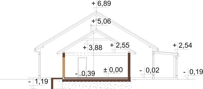 Projekt domu DM-6730 - przekrój