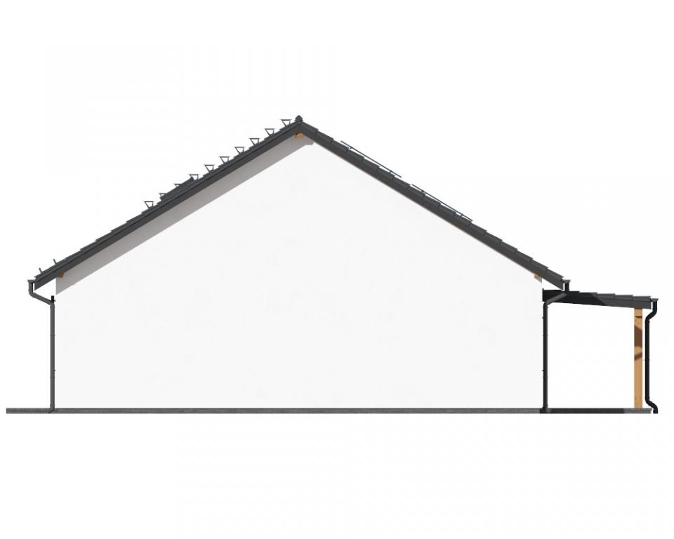 Projekt domu L-6730 - elewacja