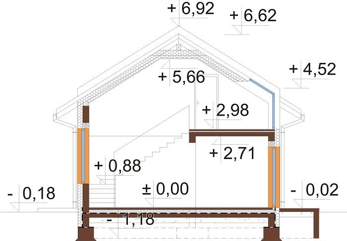 Projekt domu DM-6731 - przekrój