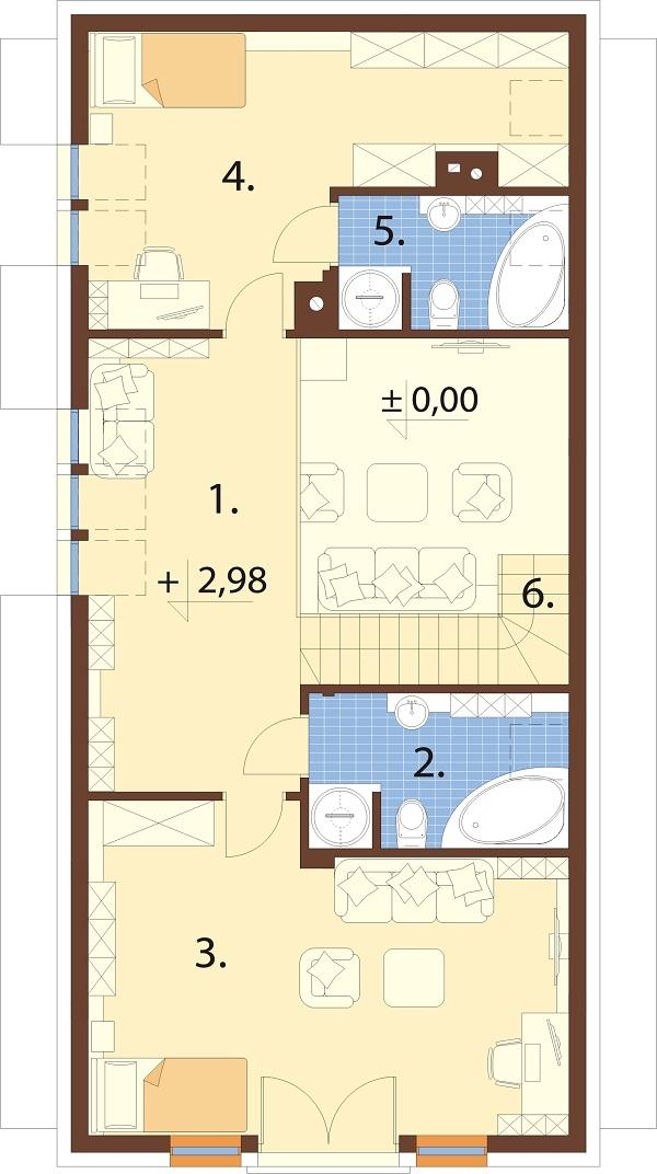 Projekt domu DM-6731 - rzut
