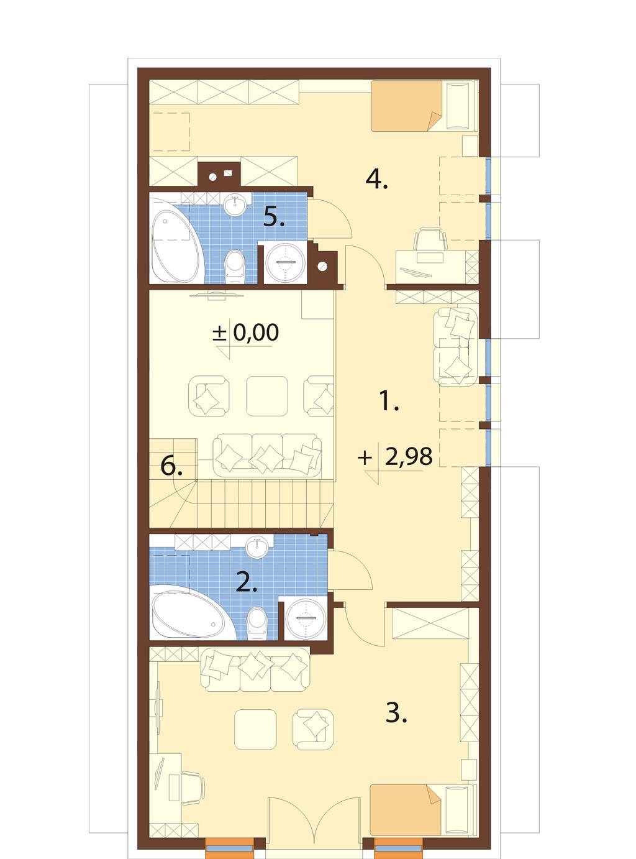 Projekt domu L-6731 - rzut